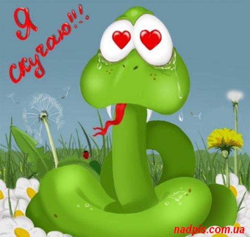 смешные рисунки змей: