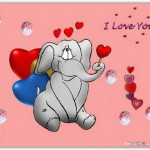 I love you со слоником